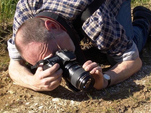 Bob při fotografování