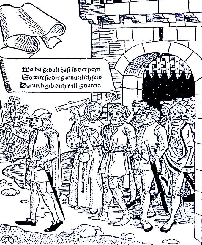 Útrpné právo III. - odsouzenec vyváděný za hradby