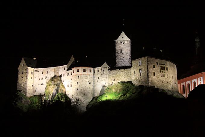 Útrpné právo III. - hrad Loket v noci