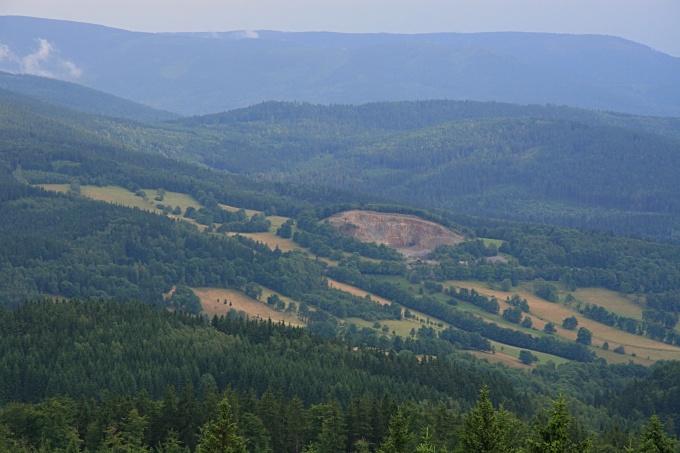 Pohled z Borůvkové hory - Rychleby
