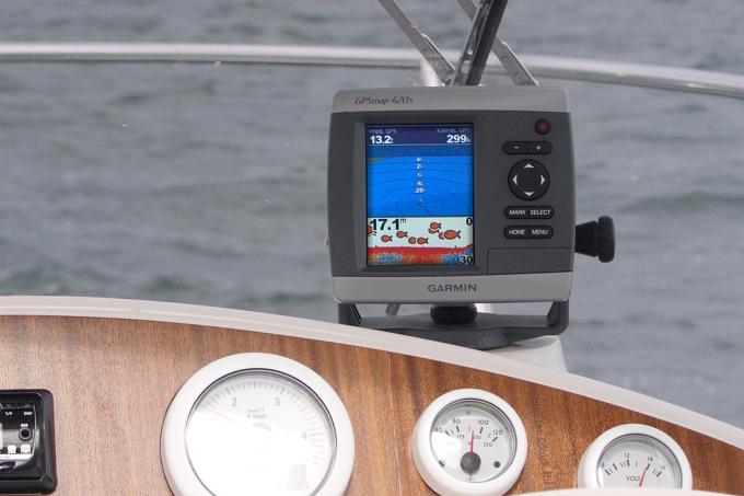 Plavba kolem Gdaňska - sonar