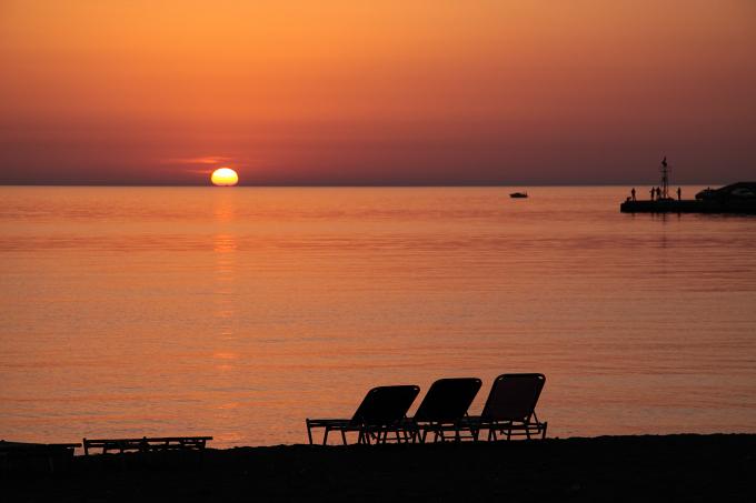Západ slunce na ostrově Lesbos