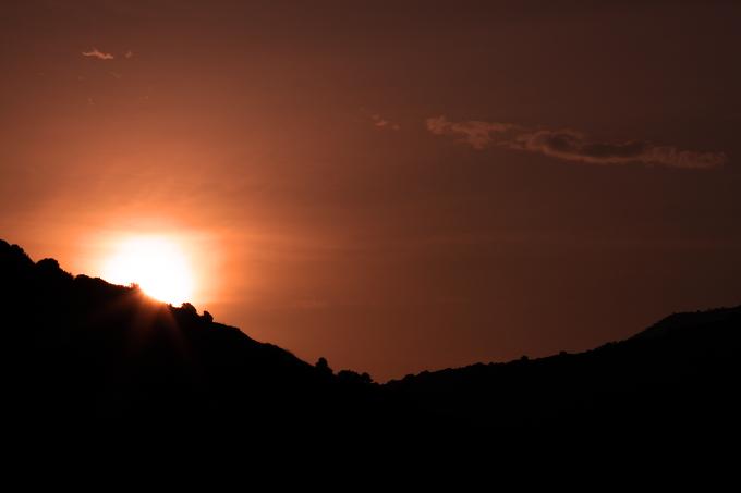 Východ slunce na ostrově Lesbos